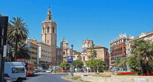 new reconstruction works in the centre of valencia